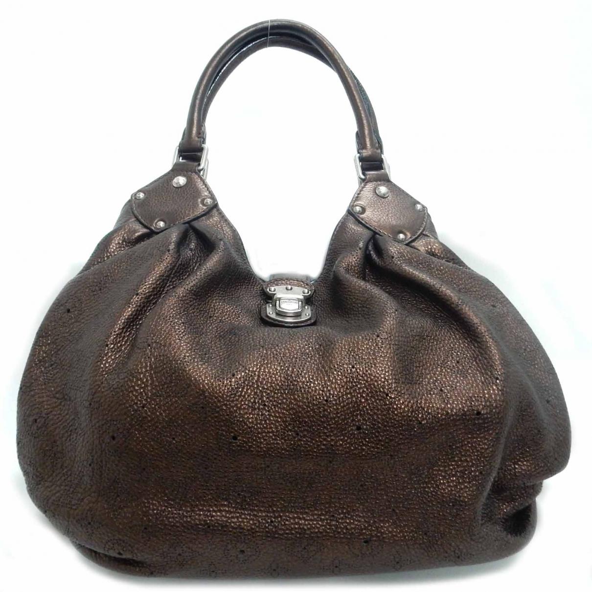 Louis Vuitton - Sac a main Mahina pour femme en cuir - marron