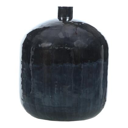 Blue Mountain Collection IX-1095-19 Vase with Iron Frame in Blue