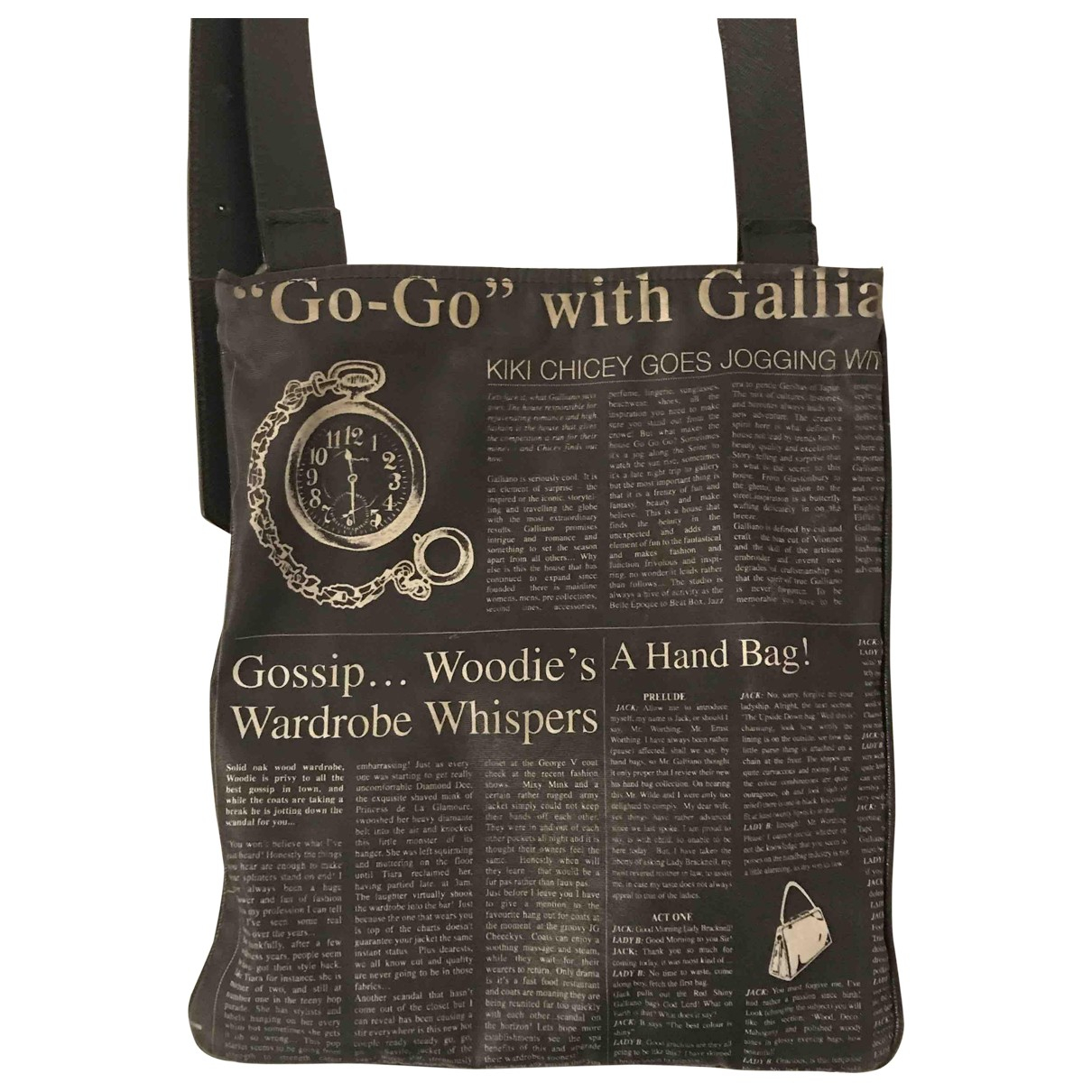 Galliano \N Black handbag for Women \N