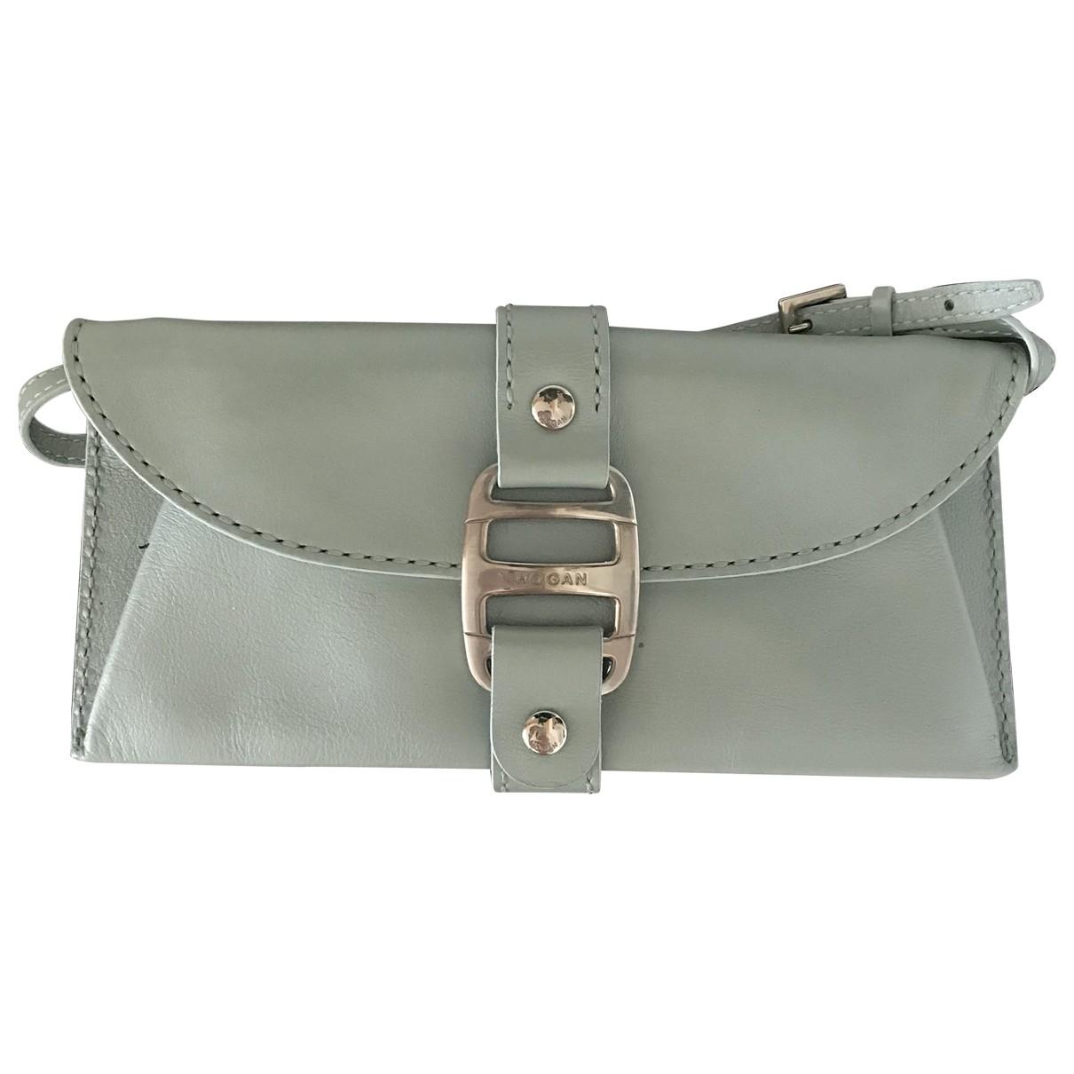Hogan \N Blue Leather Clutch bag for Women \N