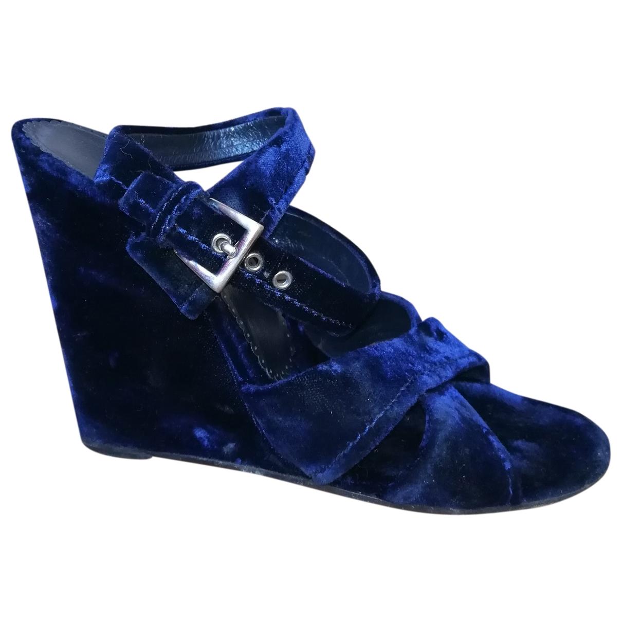 Sandalias de Terciopelo Prada
