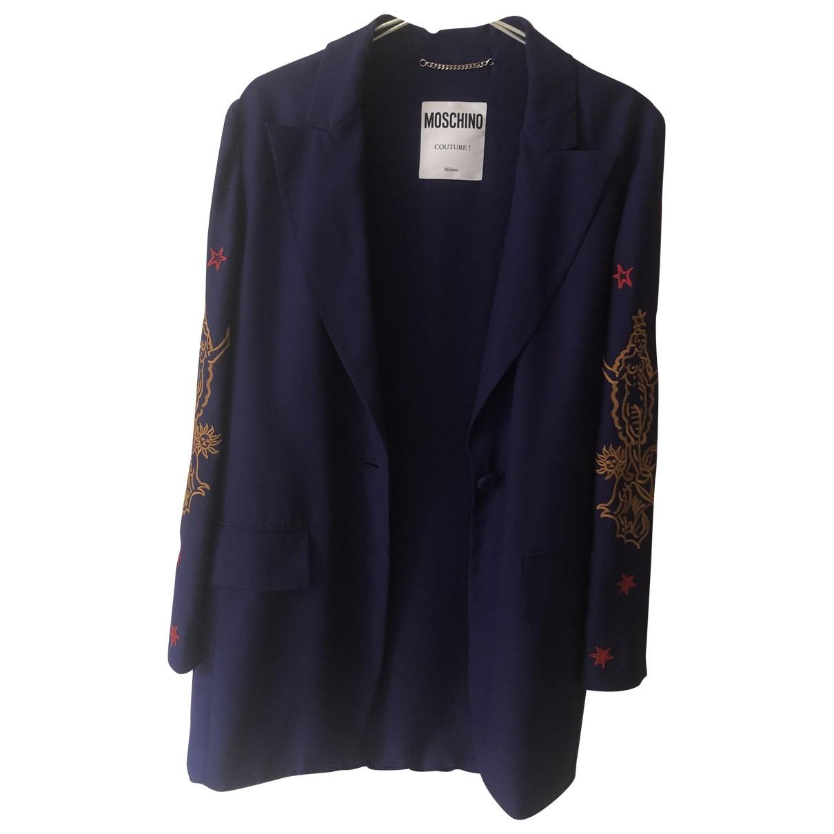 Moschino - Veste   pour femme en soie - violet