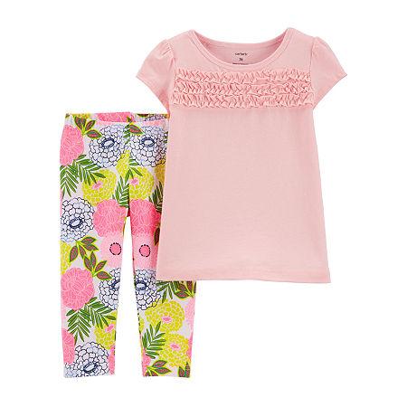 Carter's Toddler Girls 2-pc. Legging Set, 3t , Pink