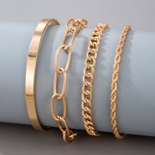 4pcs Simple Chain Bracelet