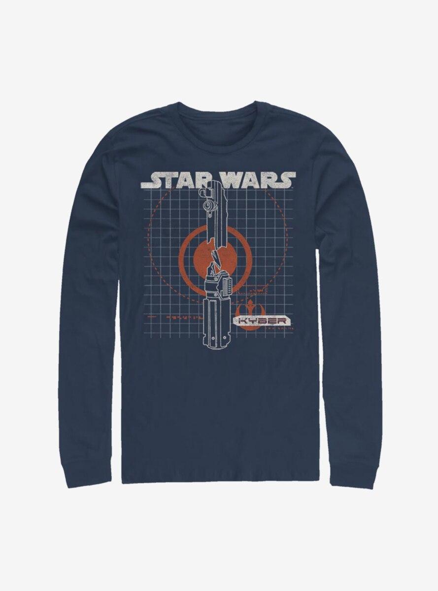 Star Wars Episode IX The Rise Of Skywalker Kyber Crystal Long-Sleeve T-Shirt