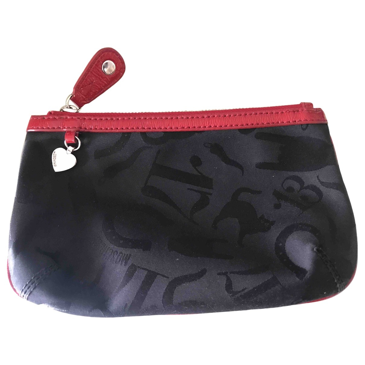 Moschino \N Black Cloth Purses, wallet & cases for Women \N
