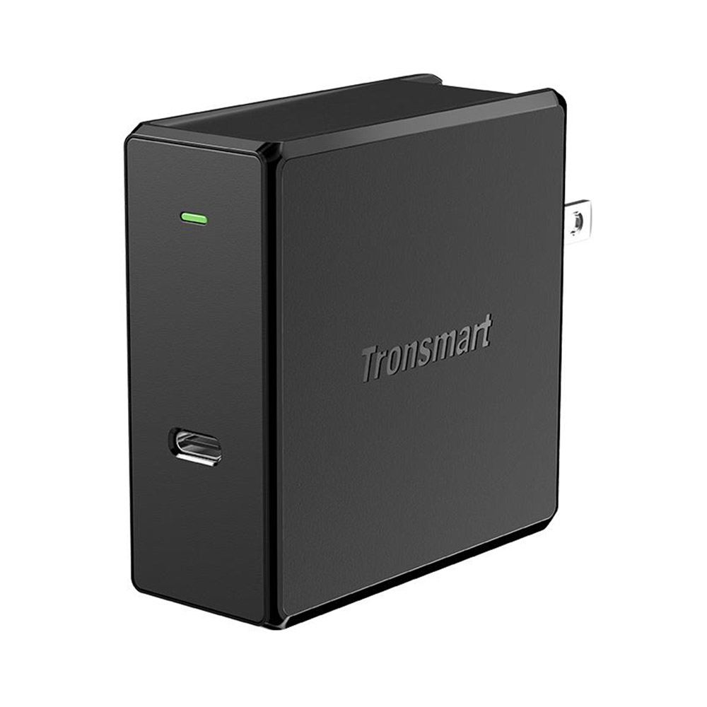 Tronsmart WCP02 60W USB-C Wall Charger with Power Delivery 3.0 for MacBook Air iPad Pro 2018 iPhone XS Max XR - US Plug