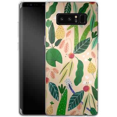 Samsung Galaxy Note 8 Silikon Handyhuelle - Tropical Greens von Iisa Monttinen