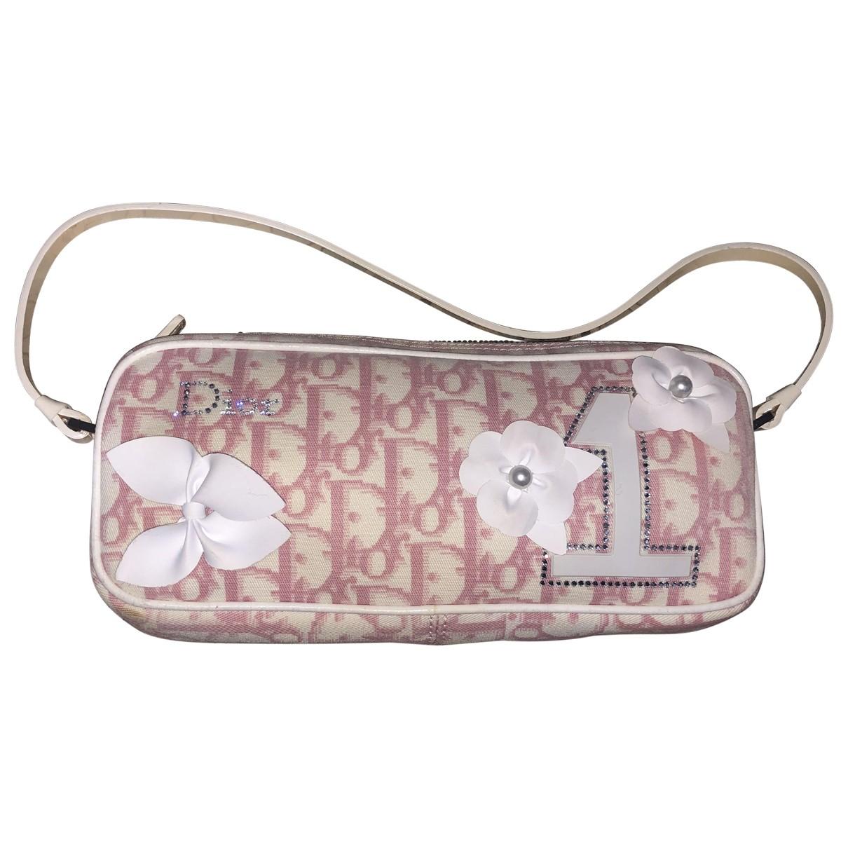 Dior \N Clutch in  Rosa Leinen