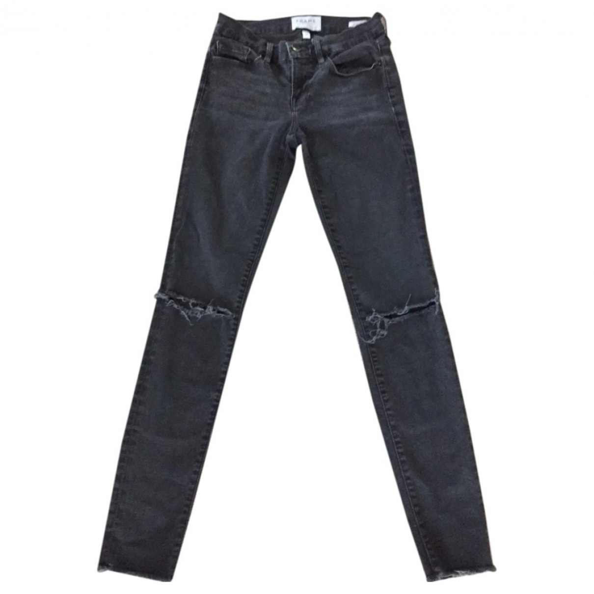 Frame Denim \N Black Cotton Jeans for Women 24 US