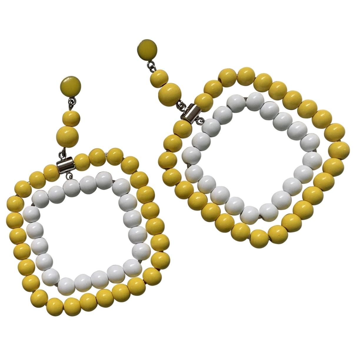 Marni \N Yellow Pearls Earrings for Women \N
