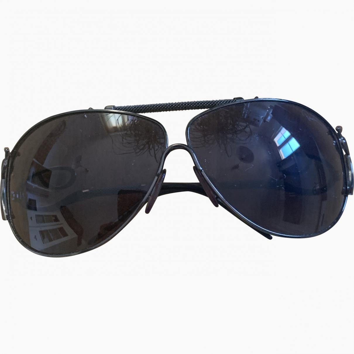 Roberto Cavalli \N Black Metal Sunglasses for Women \N