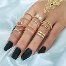 10pcs Cuff Ring