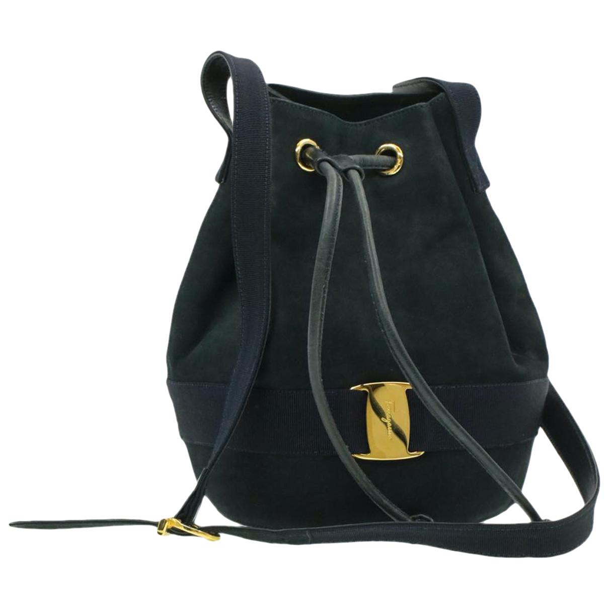 Salvatore Ferragamo \N Navy Suede handbag for Women \N