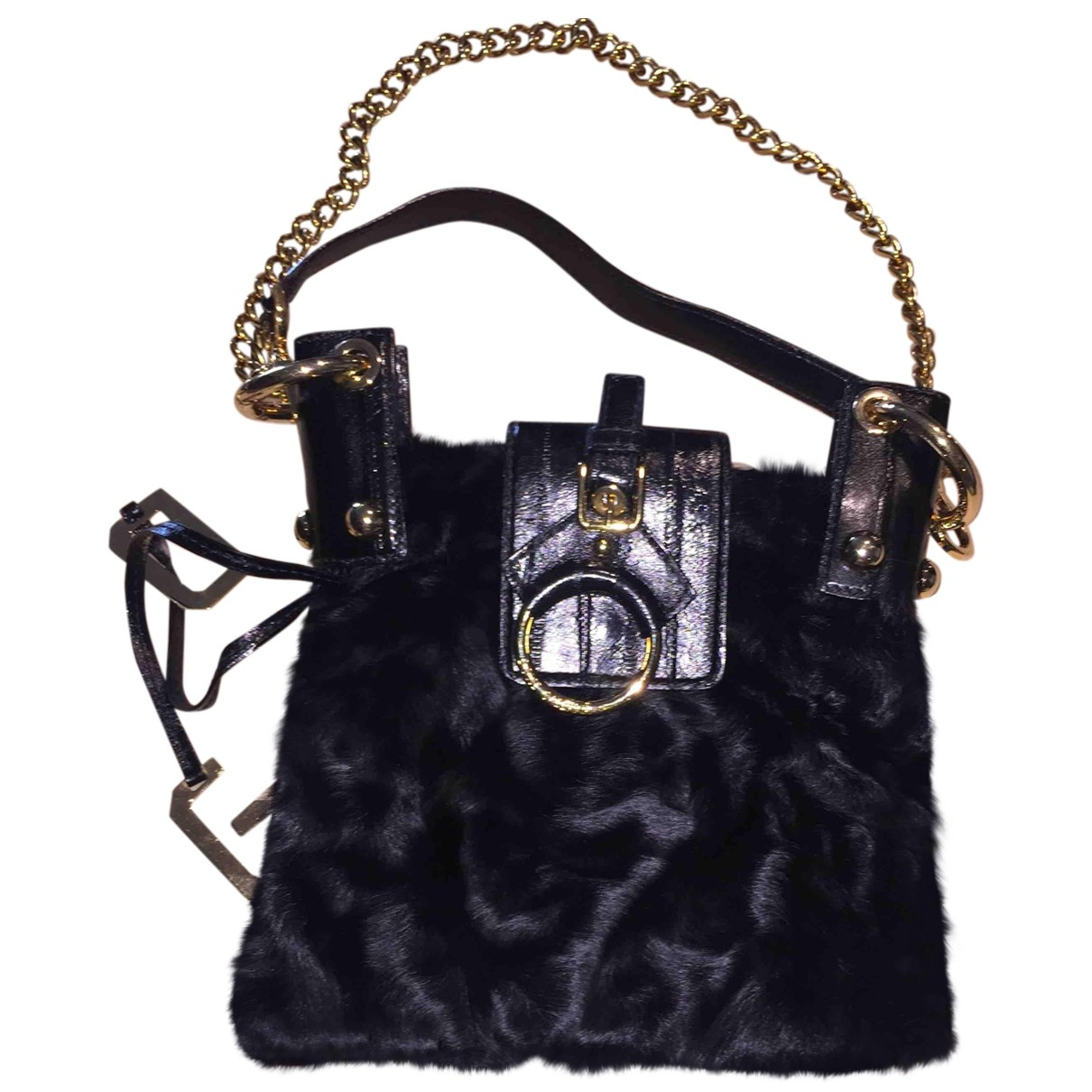 Dolce & Gabbana \N Clutch in  Schwarz Kalbsleder in Pony-Optik