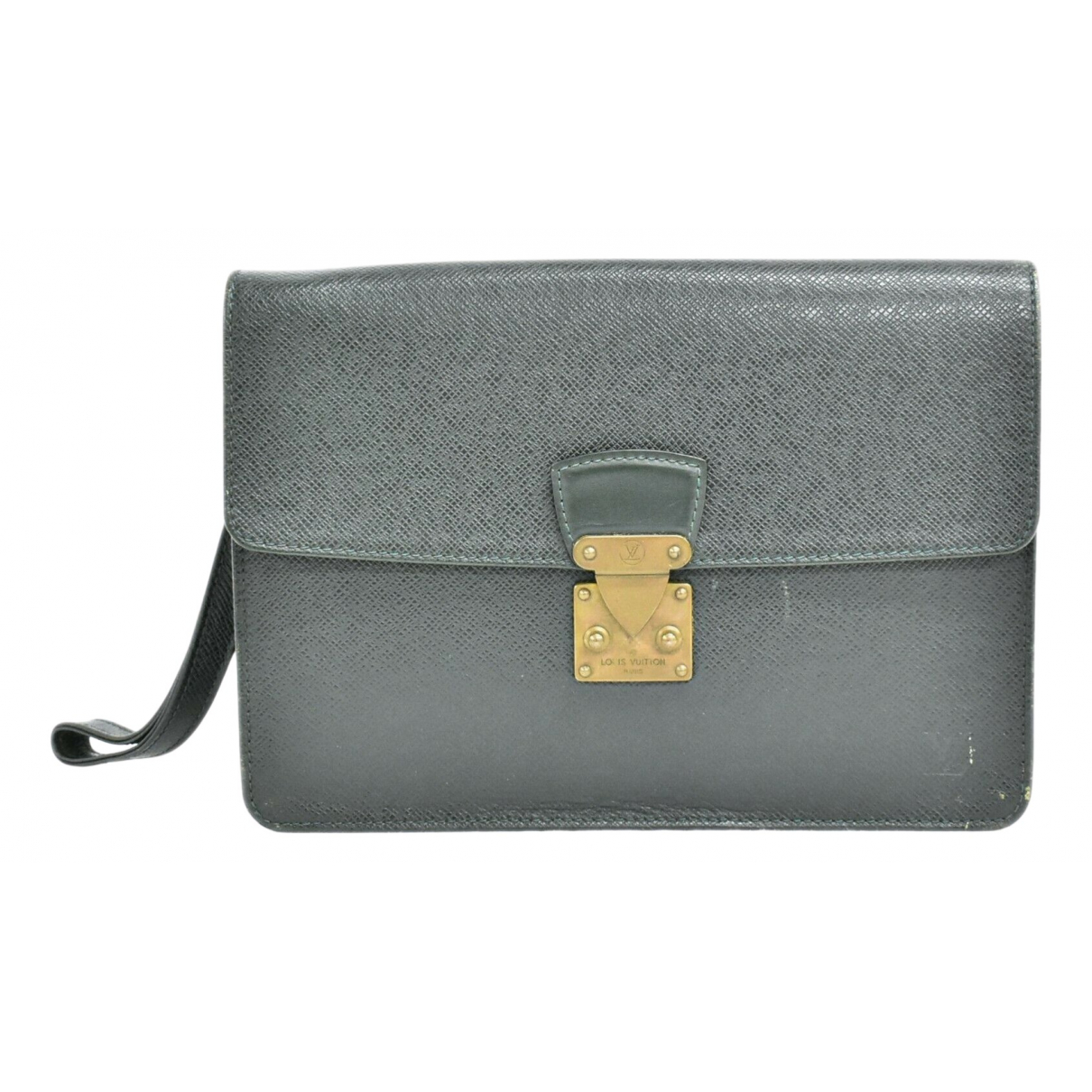 Louis Vuitton Kourad Clutch in  Gruen Leder