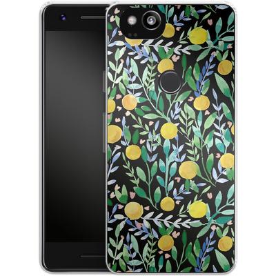 Google Pixel 2 Silikon Handyhuelle - Bright Blossoms von Iisa Monttinen