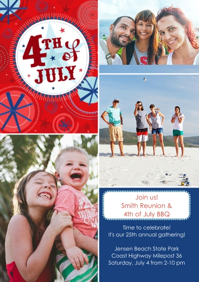 4th of July Photo Cards 5x7 Cards, Standard Cardstock 85lb, Card & Stationery -4th of July