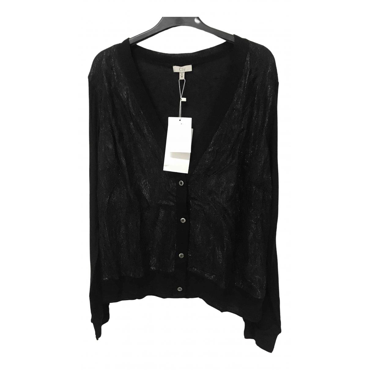 Clu - Pull   pour femme en coton - noir