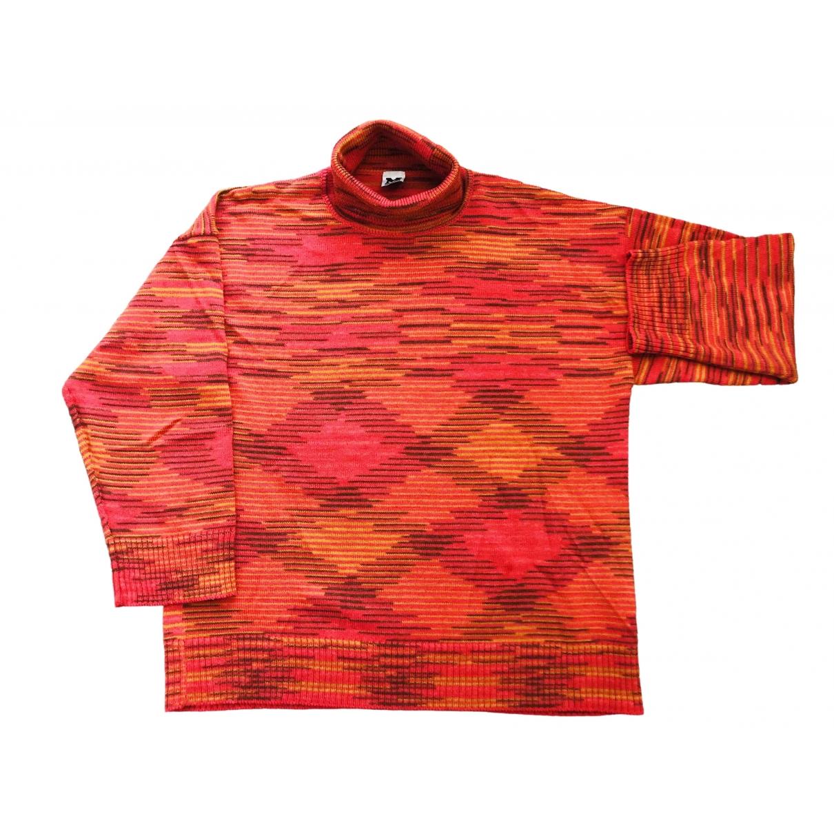 M Missoni - Pull   pour femme en laine - orange