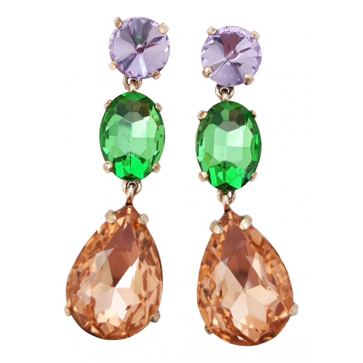 - Boucles doreilles Art Deco pour femme en cristal - multicolore
