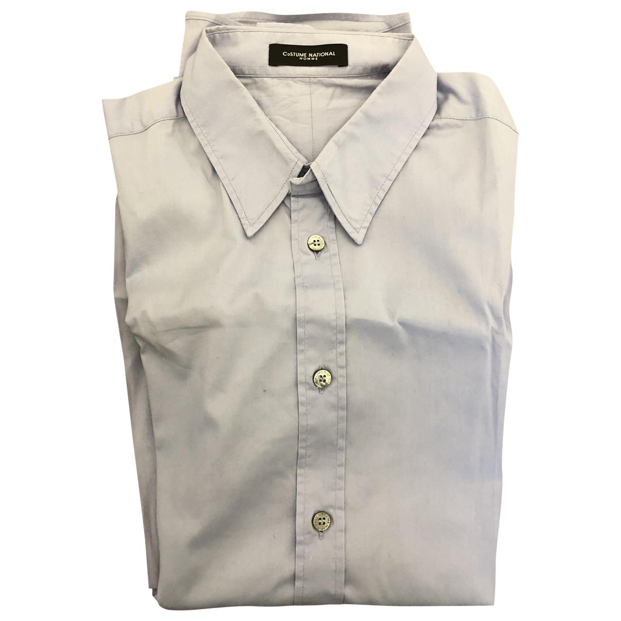 Costume National - Chemises   pour homme en coton - turquoise
