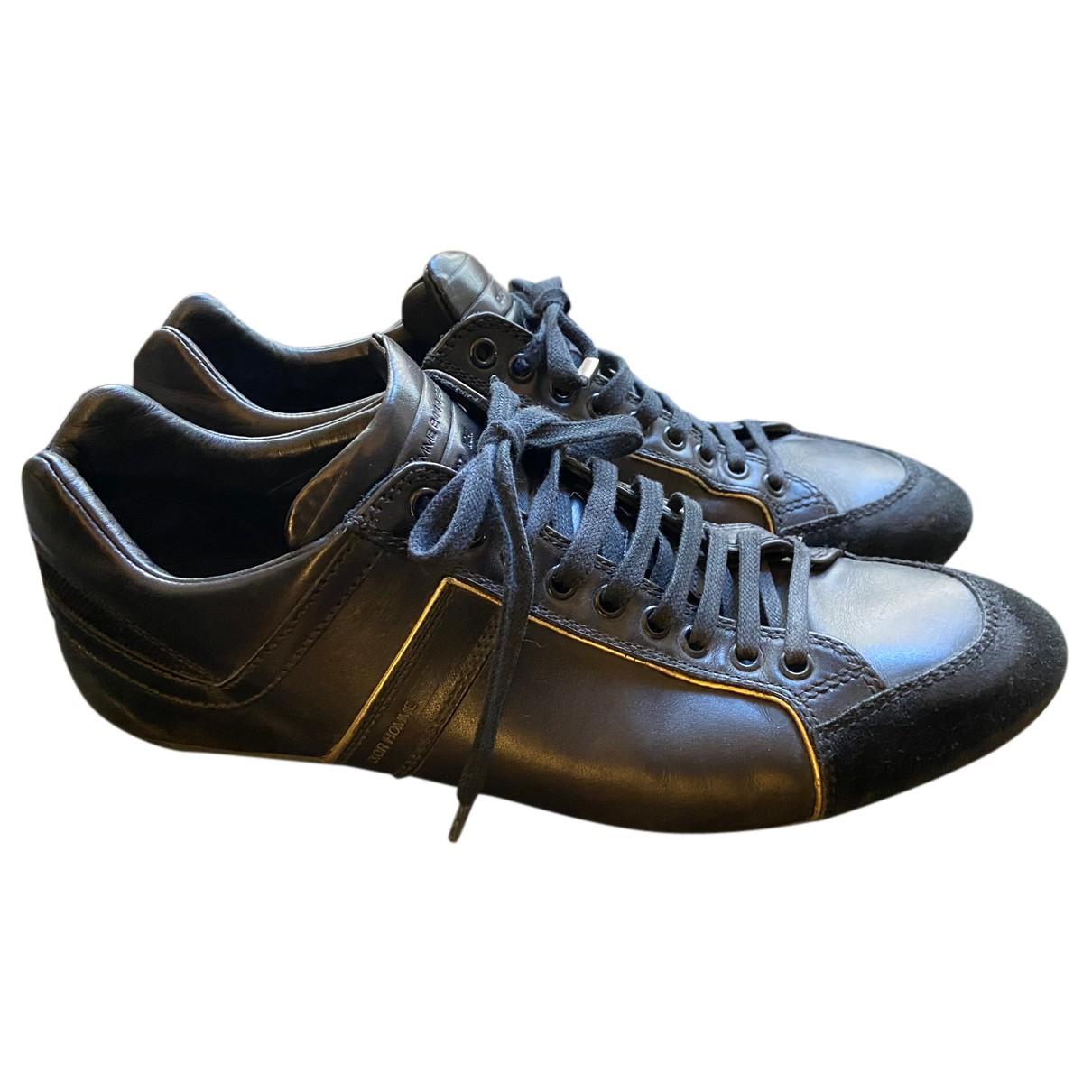 Dior Homme \N Sneakers in  Schwarz Leder