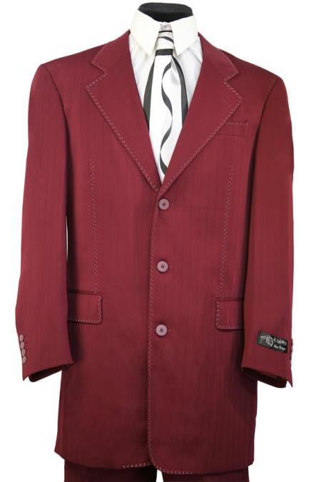 Harlem Maroon Red Notch Lapel Zoot Suit