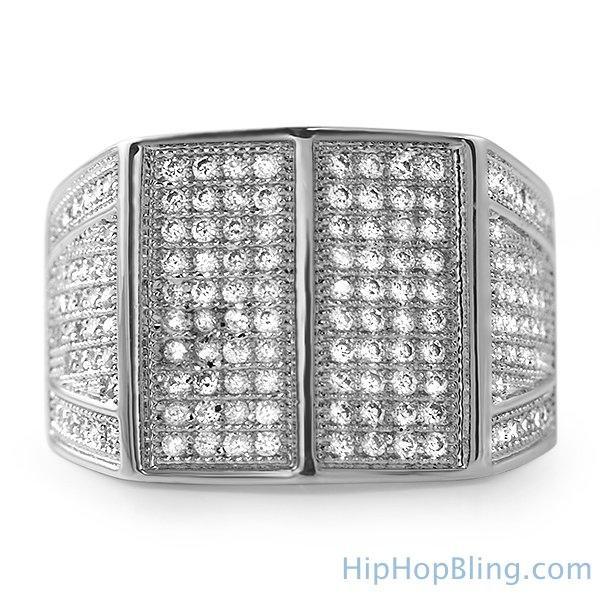 Celeb Rhodium CZ Bling Bling Ring