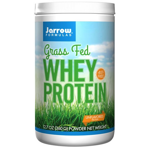 Grass Fed Whey Protein Unflavored 12.7 oz by Jarrow Formulas
