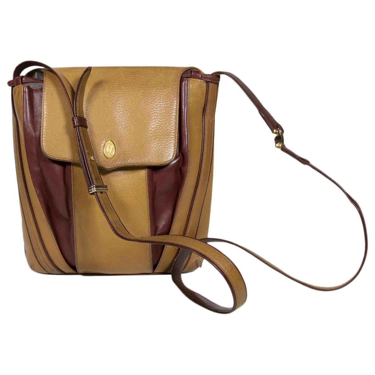 Cartier - Sac a main   pour femme en cuir - marron
