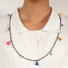 1 Stueck Halskette mit Quasten & Stern Dekor