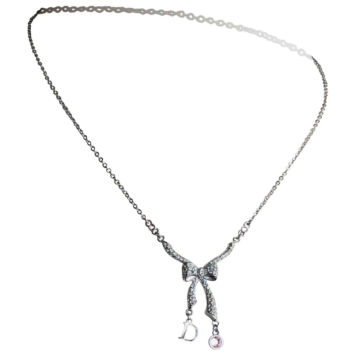 Dior - Collier   pour femme en metal - argente