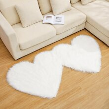 Herz formige Kunstpelz Teppich
