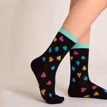 Calcetines con estampado geometrico