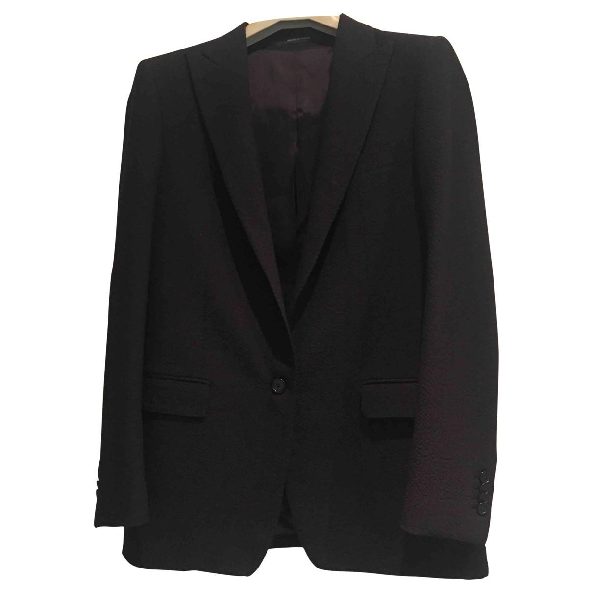 Tagliatore \N Black Wool jacket for Women 42 IT