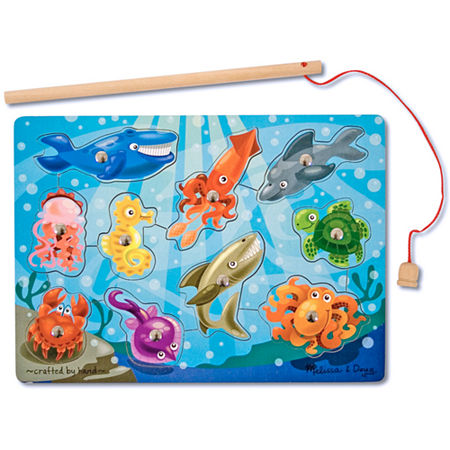 Melissa & Doug Fishing Magnetic Puzzle Game, One Size , Multiple Colors