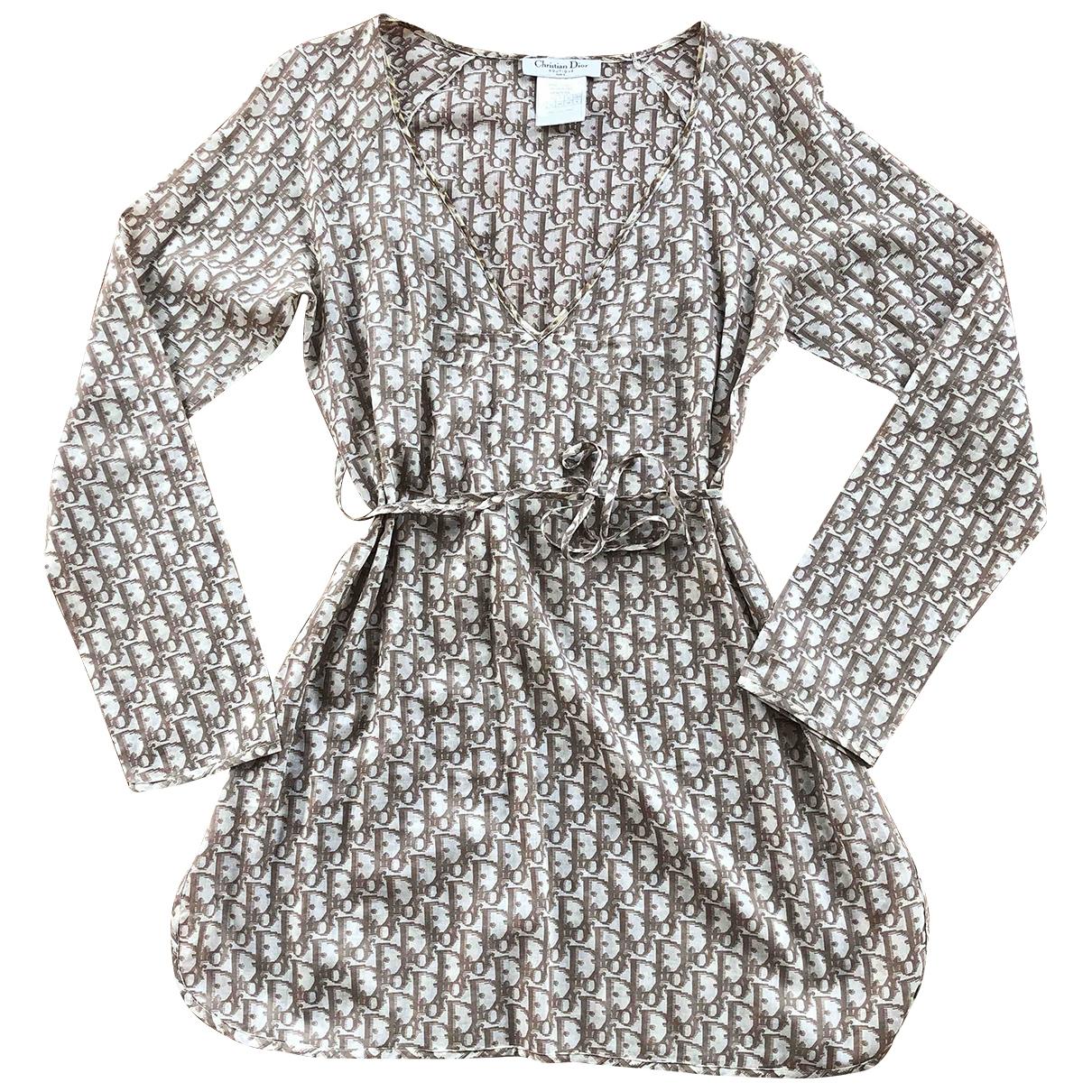 Dior \N Brown Cotton dress for Women 40 FR