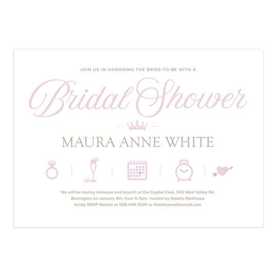 Gartner Studios® Personalized Icons Wedding Bridal Shower Invitation | Michaels®
