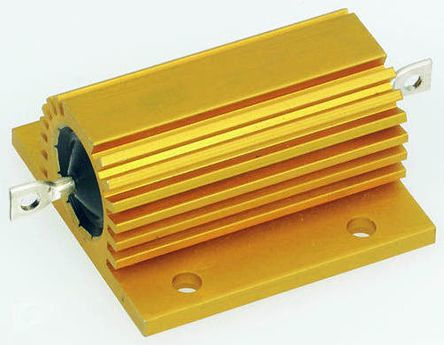 Arcol HS100 Series Aluminium Housed Axial Wire Wound Panel Mount Resistor, 4.7Ω ±5% 100W
