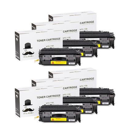 Compatible Canon 119 II cartouche de toner noire haute capacite (119X 3480B001) - Moustache - 6/paquet