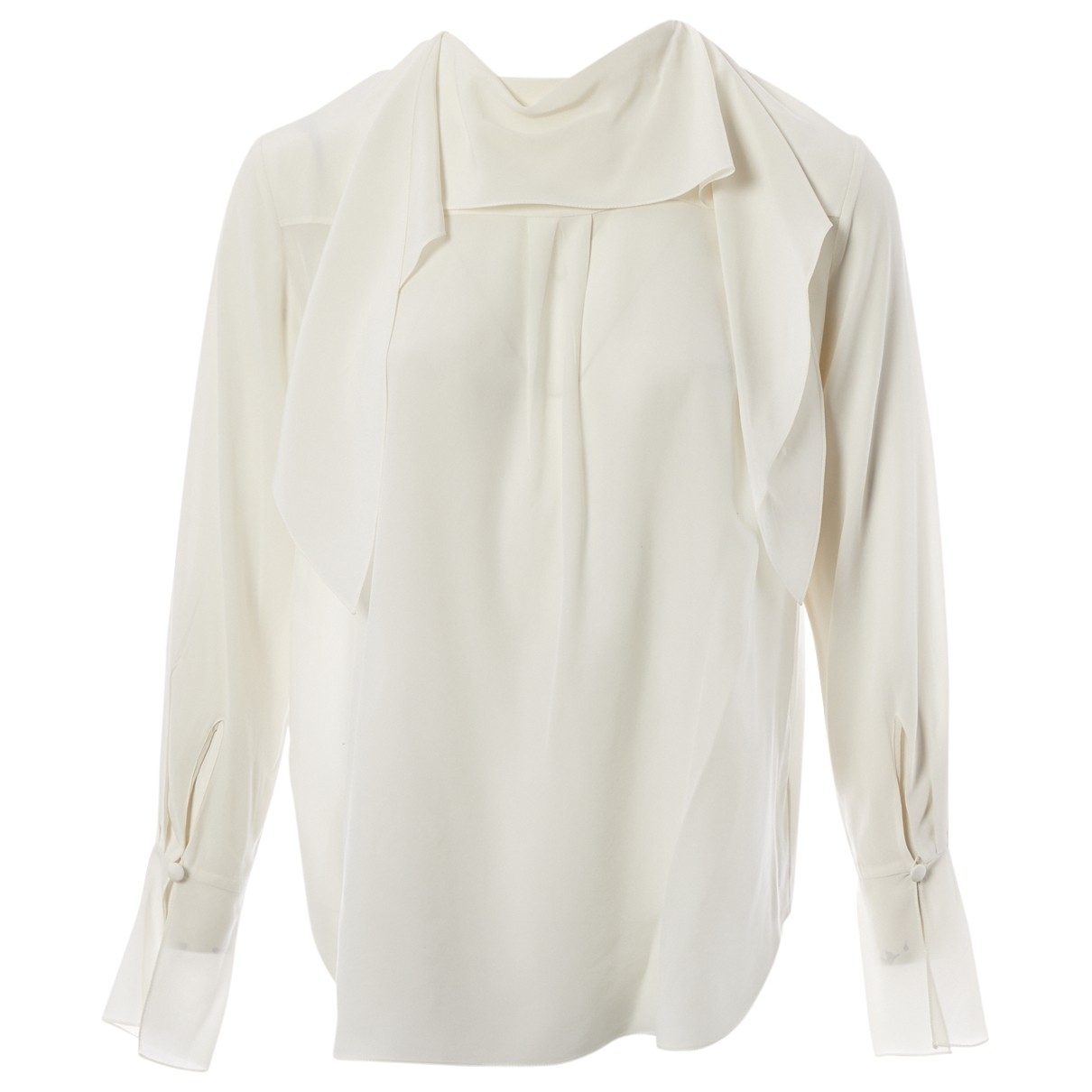 Chloé \N Ecru Silk  top for Women 36 FR
