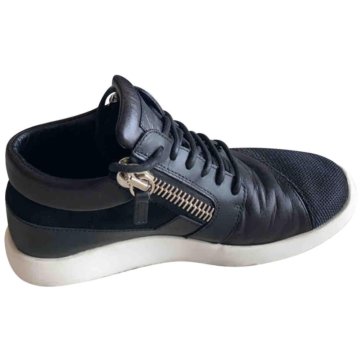 Giuseppe Zanotti \N Sneakers in  Schwarz Leinen
