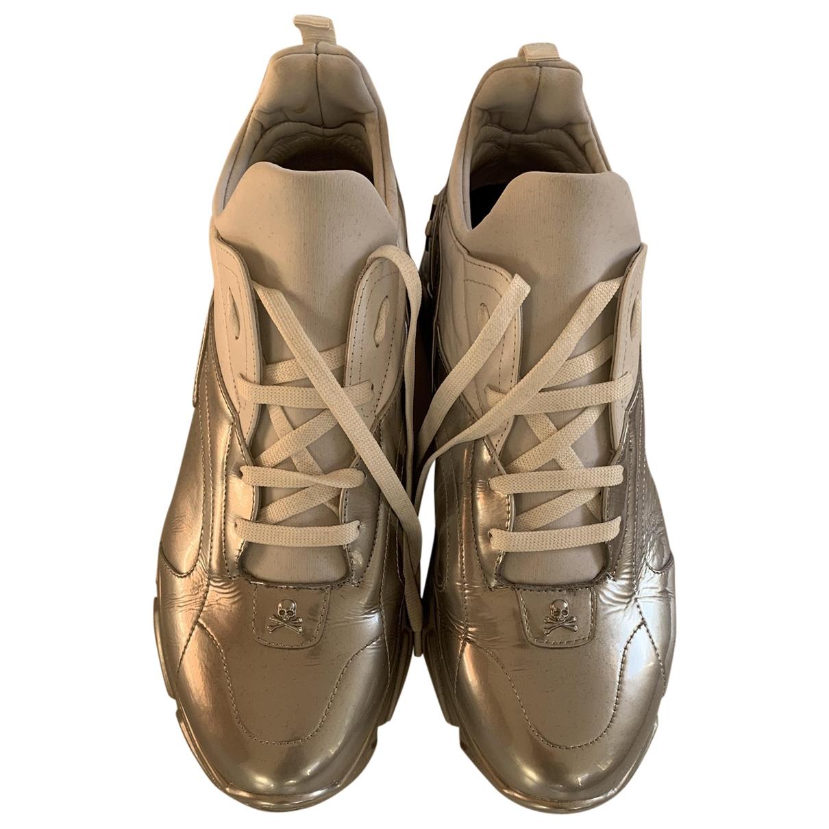 Philipp Plein - Baskets   pour homme en cuir - metallise