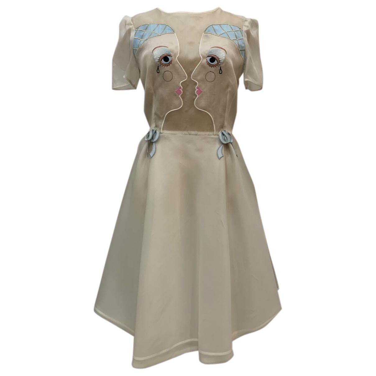 Vivetta - Robe   pour femme en soie - blanc