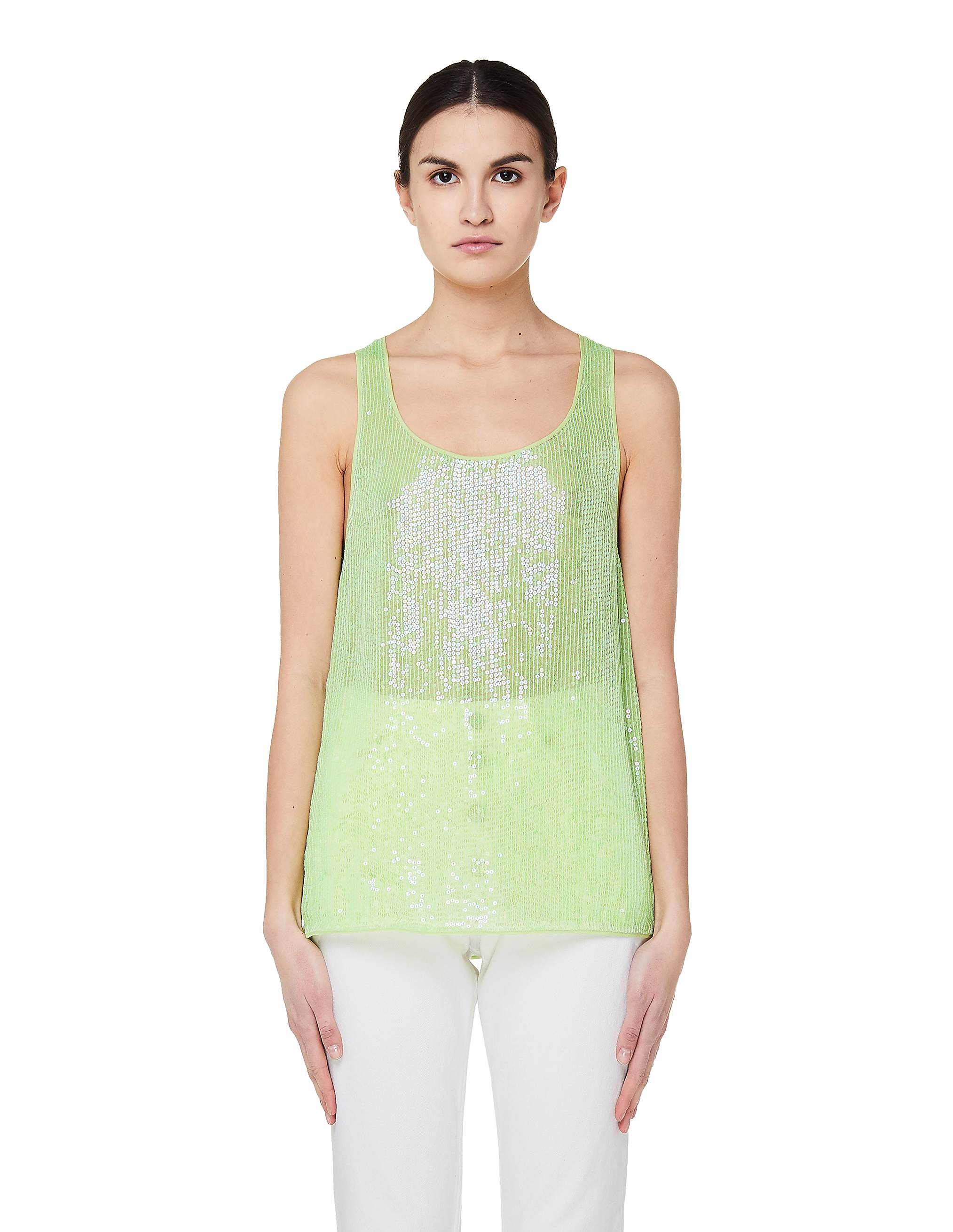 Ashish Green Sequin Embroidered Top