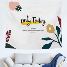 Slogan Graphic Tapestry