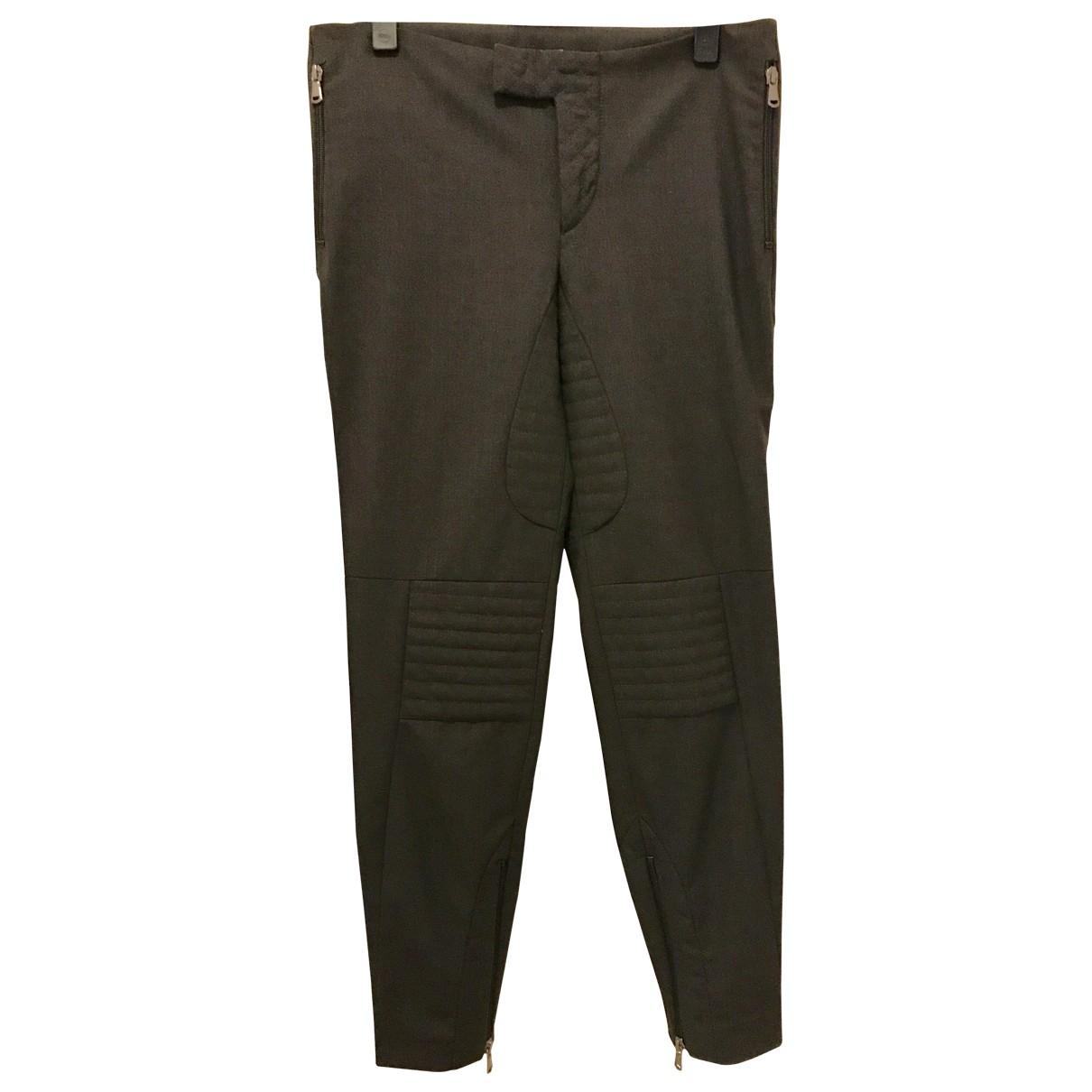 Brunello Cucinelli \N Grey Wool Trousers for Women 38 FR