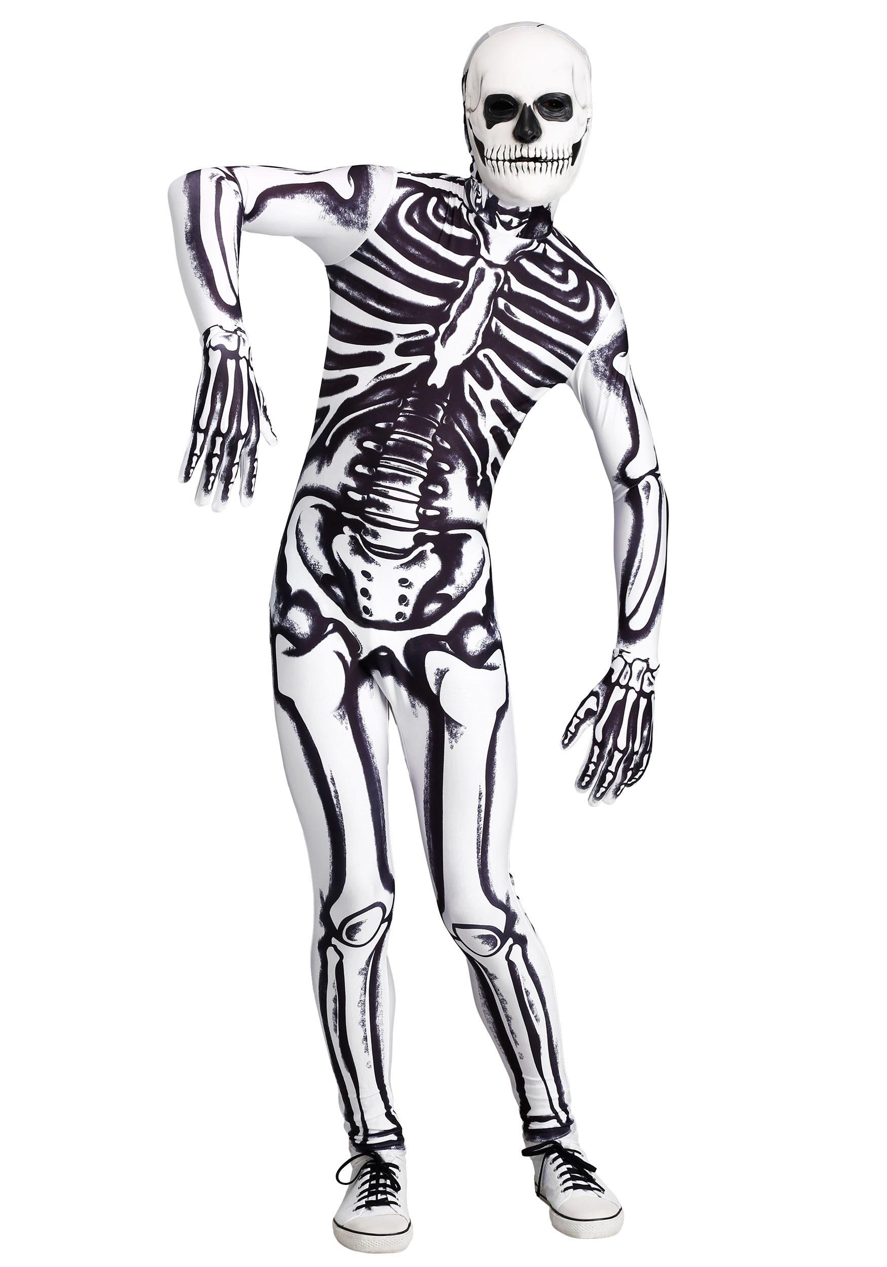 White Skeleton Costume for Men