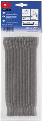 HellermannTyton Grey Hook & Loop Tape, 1m x 13 mm